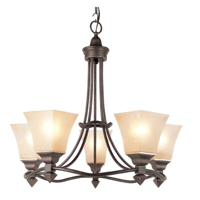 TransGlobe Lighting Rustic Tea Branch 5 Light Chandelier