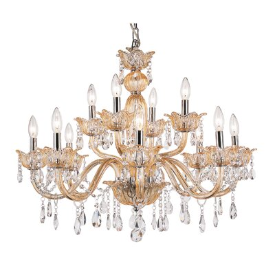 TransGlobe Lighting 12 Light Chandelier