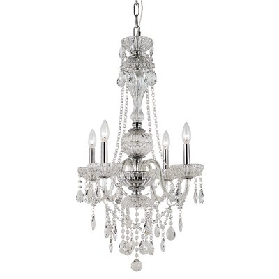 TransGlobe Lighting Versailles 4 Light Chandelier