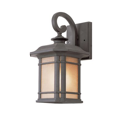 TransGlobe Lighting Corner Windows One Light Outdoor Small Wall Lantern