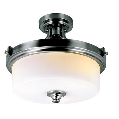 TransGlobe Lighting 3 Light Semi Flush Mount