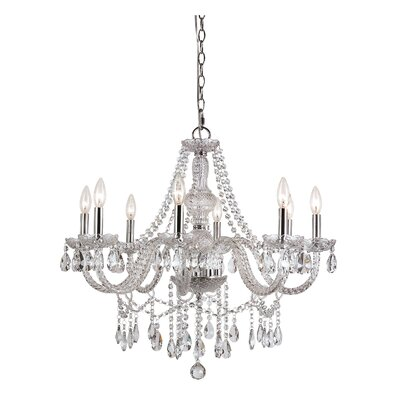 TransGlobe Lighting 8 Light Chandelier