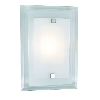 Wall Sconce Frosted Glass : Access Lighting Aquarius Squares 1 Light Wall Sconce with Frosted Glass & Reviews Wayfair