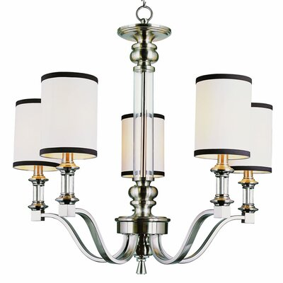 Modern Meets Traditional 5 Light Chandelier