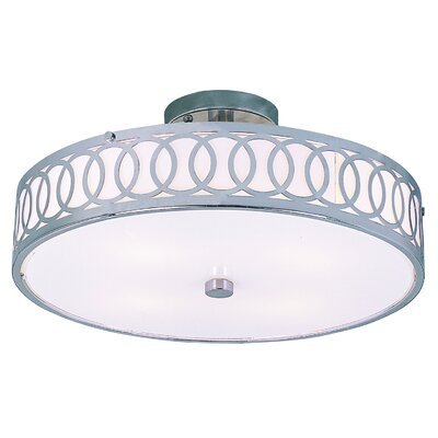 TransGlobe Lighting Contemporary 4 Light Semi Flush Mount