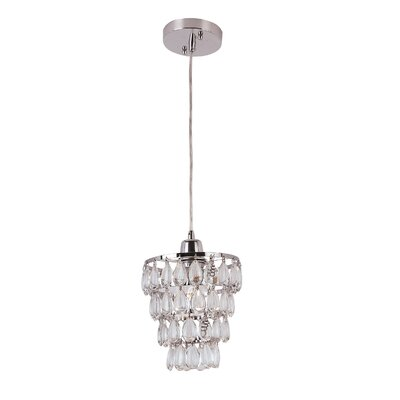 Contemporary Crystal 1 Light Pendant