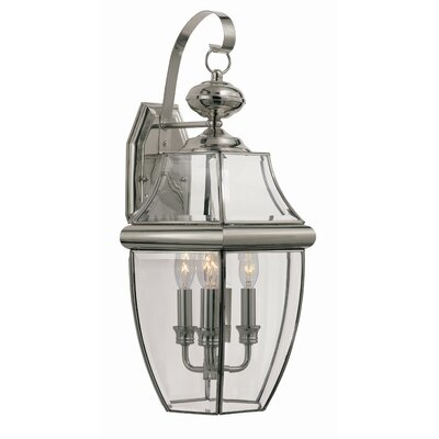 TransGlobe Lighting 3 Light Outdoor Wall Lantern