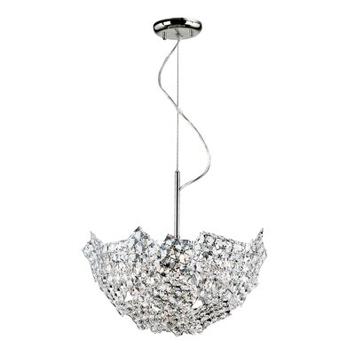 Fragmented Crystal Basket 6 Light Pendant