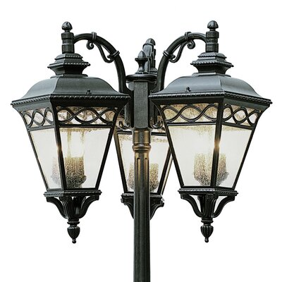 "TransGlobe Lighting Outdoor 9 Light 24.75"" Post Lantern Set"