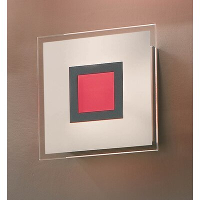 Gamma Delta Group Coloring Red Ceiling / Wall Lamp