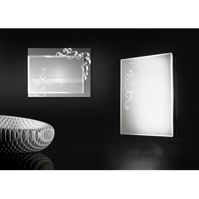 Touch Design Curly Rectangular Mirror 4 Light Wall Lamp