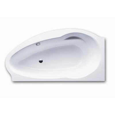 "Kaldewei Atmo 67"" x 35"" Right Bathtub with Molded Panel and Feet"