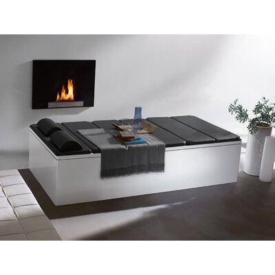 "Kaldewei Bassino 78.7"" x 39.4"" Bath Tub with Molded Panel and Leveling Feet in White"