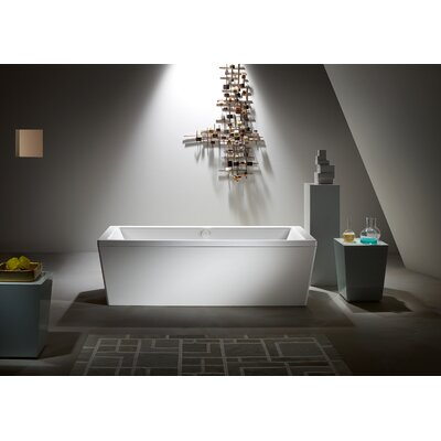 "Kaldewei Conoduo 79"" x 39"" Bathtub with Molded Panel and Leveling Feet Bathtub"