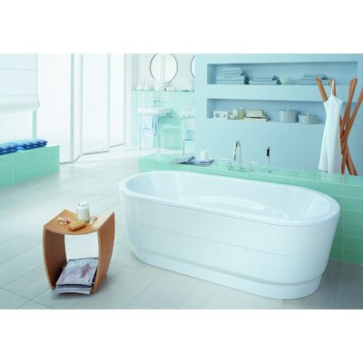 "Kaldewei Vaio Duo 71"" x 32"" Oval Bathtub with Molded Panel"