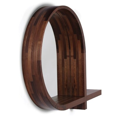 Lineground Round Mirror and Shelf