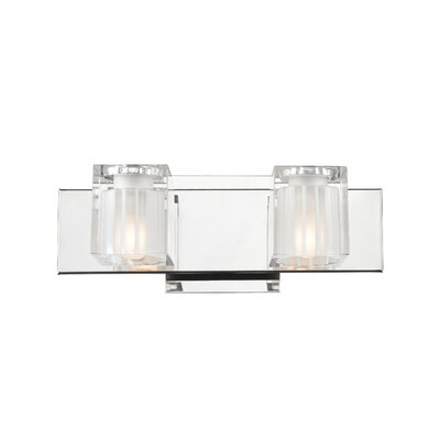 Golden Lighting Block 2 Light Bath Vanity Light