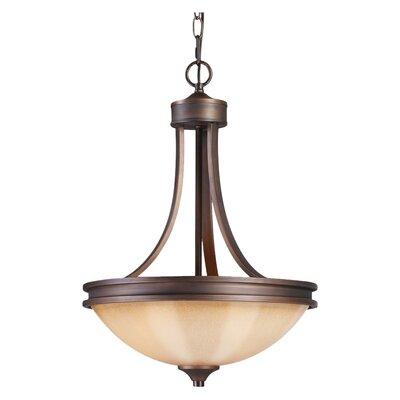 golden lighting hidalgo 3 light bowl inverted pendant reviews. Black Bedroom Furniture Sets. Home Design Ideas