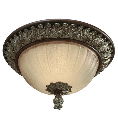 Golden Lighting Bristol Place 2 Lights Flush Mount
