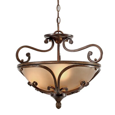 Loretto 3 Lights Convertible Inverted Pendant
