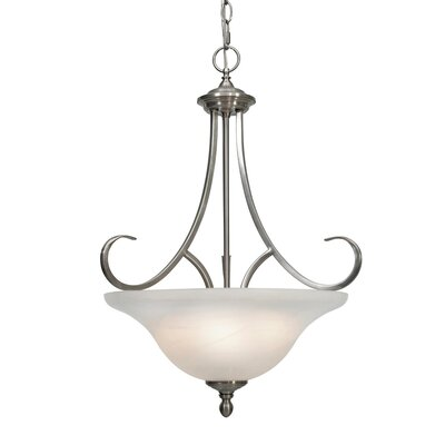 Lancaster 3 Light Bowl Inverted Pendant