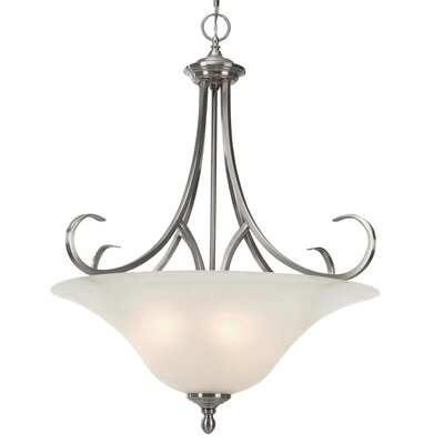 Golden Lighting Lancaster 3 Light Bowl Inverted Pendant
