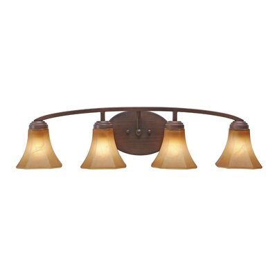 Golden Lighting Accurian 4 Light Bath Vanity Light
