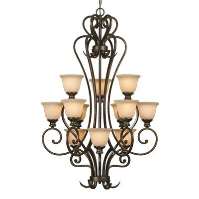 Golden Lighting Heartwood 12 Light Chandelier