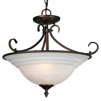 Golden Lighting Homestead Ridge 3 Light Convertible Inverted Pendant