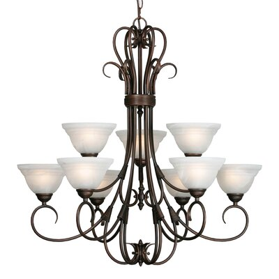 Homestead Ridge 9 Light Chandelier