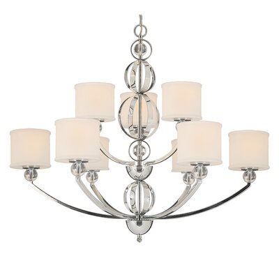 Cerchi Chandelier in Chrome