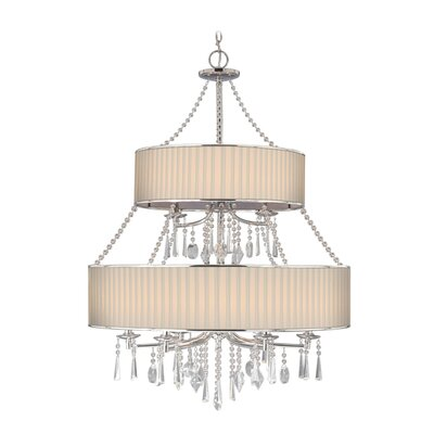 Golden Lighting Echelon  Chandelier in Chrome