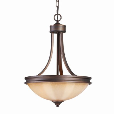 Golden Lighting Hidalgo 3 Light Bowl Inverted Pendant