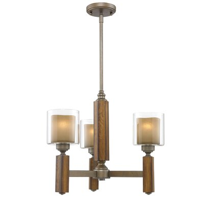 Zura 3 Light Mini Chandelier