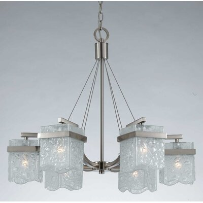 Arctic Ice 6 Light Chandelier