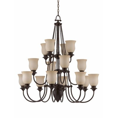 La Lanterna 16 Light Entry Chandelier