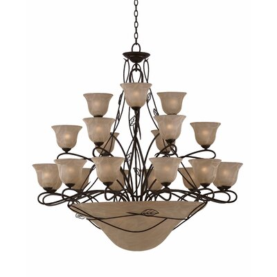 Triarch Lighting Whisper 27 Light Entry Chandelier