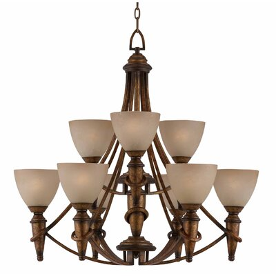 Triarch Lighting Parthenon 9 Light Chandelier