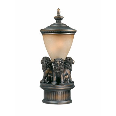 Triarch Lighting Lion Exterior Outdoor Post Lantern Set
