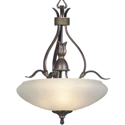 Triarch Lighting 3 Light Bowl Inverted Pendant