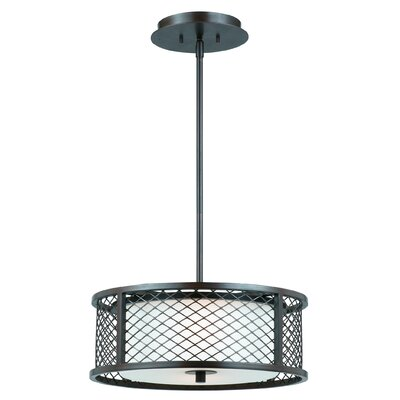 Triarch Lighting Chainlink 3 Light Drum Foyer Pendant