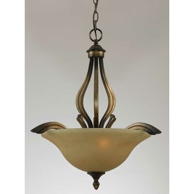 Triarch Lighting Value Series 230 3 Light Inverted Pendant