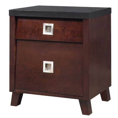 angelo:HOME Marlowe 2 Drawer Nightstand