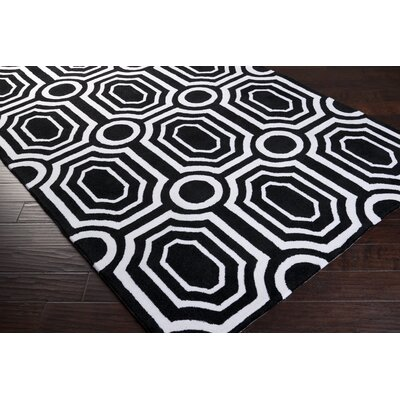 angelo:HOME Hudson Park Jet Black/White Rug