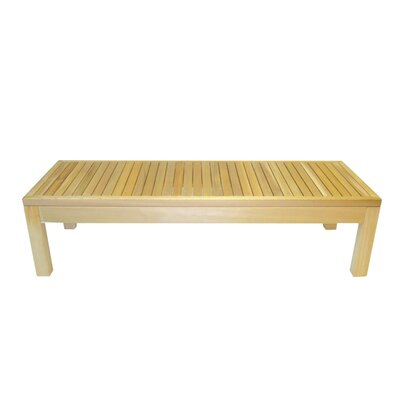 Cedar Delite Rectangle Western Red Cedar Coffee Table