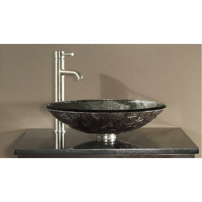 Tempered Glass Vessel Bathroom Sink - GVE480M