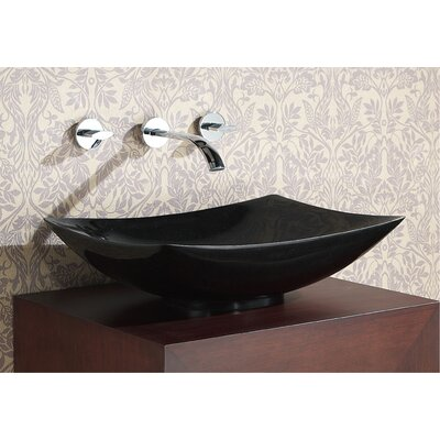 Rectangular Stone Vessel Bathroom Sink - SVE510