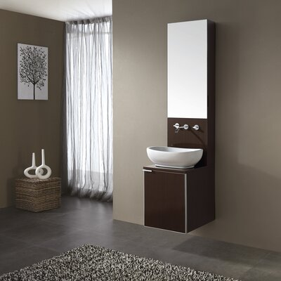 Avanity Cube Vanity and Mirror Cabinet in Wenge