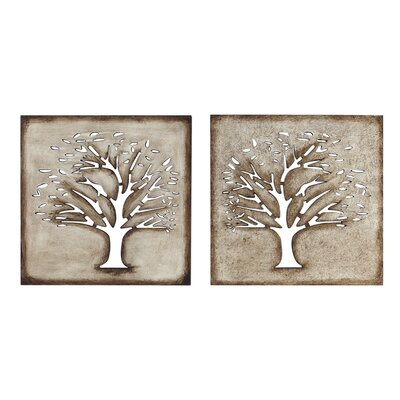 Kokoware Crafted Tree Wall Art (Set of 2)