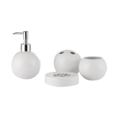 Wray 4 Piece Bath Accessory Set